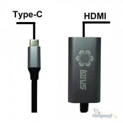 Adaptador Usb C Para Hdmi Celular Notebook 4k Lotus Lt-227